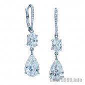 Серьги с бриллиантами грушевидной формы