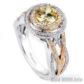 Обручальное кольцо белого и желтого золота